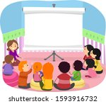 illustration of parents and...   Shutterstock .eps vector #1593916732