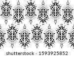 ikat pattern etnic indian...   Shutterstock .eps vector #1593925852