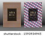 arabesque pattern vector cover... | Shutterstock .eps vector #1593934945