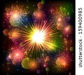 bright abstract festive... | Shutterstock .eps vector #159400985