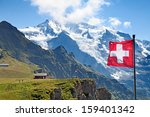 Swiss Flag On The Top Of...