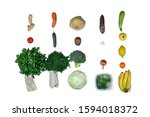 fresh  assorti of fruits and... | Shutterstock . vector #1594018372