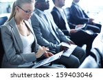 image of row of business people ... | Shutterstock . vector #159403046