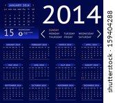 vector calendar 2014 ui flat...