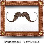 golden luxury frame with...   Shutterstock .eps vector #159404516