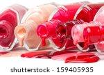 bright colored nail polish... | Shutterstock . vector #159405935
