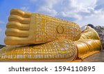 Feet Of Giant Buddha Statue In...