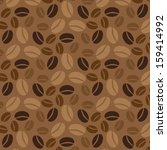 coffee vector seamless pattern. | Shutterstock .eps vector #159414992