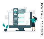 job hiring illustration vector...   Shutterstock .eps vector #1594176568