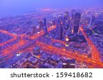 dubai city skyline   main road... | Shutterstock . vector #159418682