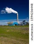 Small photo of MAY 20 2019, STANTON, ND, USA - Leland Olds Power Plant, Stanton, North Dakota