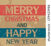 christmas greeting card | Shutterstock . vector #159423986