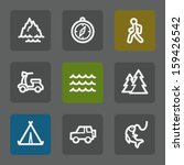 travel web icons set 3  flat... | Shutterstock .eps vector #159426542