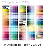 color chart. print test page.... | Shutterstock .eps vector #1594267705