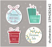 happy merry christmas sale tag... | Shutterstock .eps vector #1594282642