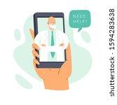 online illustration concept  ...