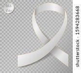 Realistic 3d White Silk Ribbon...