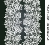 abstract lace ribbon seamless... | Shutterstock .eps vector #159432482