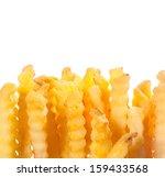 crinkle cut wavy deep fried... | Shutterstock . vector #159433568