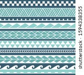vector ethnic seamless pattern... | Shutterstock .eps vector #1594338355