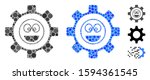 service gear laugth smile... | Shutterstock .eps vector #1594361545