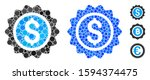 banking stamp mosaic of round... | Shutterstock .eps vector #1594374475