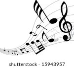 musical notes background with... | Shutterstock .eps vector #15943957