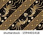 indonesian batik patterns ...   Shutterstock .eps vector #1594401418