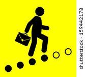 man goes on the career ladder... | Shutterstock .eps vector #159442178