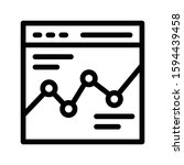 chart vector thin line icon