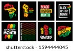 black history month grunge... | Shutterstock .eps vector #1594444045