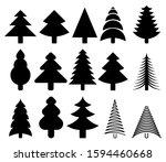 set of fifteen trees for...   Shutterstock .eps vector #1594460668