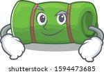 cool camping mat scroll mascot... | Shutterstock .eps vector #1594473685