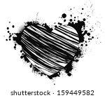 beautiful grunge black heart...