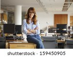 portrait of a happy  smiling... | Shutterstock . vector #159450905