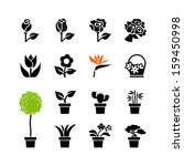 Web Icons Set   Flowers And...