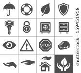 protection icons. simplus... | Shutterstock .eps vector #159451958