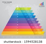 10 steps pyramid with free... | Shutterstock .eps vector #1594528138