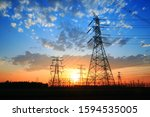 The Silhouette Of Pylon  The...