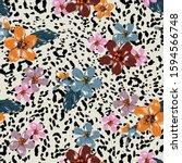 stylish animal skin prints... | Shutterstock .eps vector #1594566748