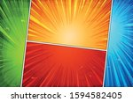 comic book action layout... | Shutterstock .eps vector #1594582405