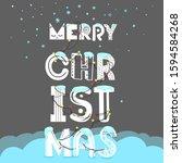 christmas party invitation... | Shutterstock .eps vector #1594584268