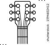 Guitar Headstock  Line Art Icon