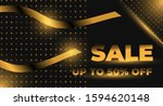 modern elegant sale poster and...   Shutterstock .eps vector #1594620148