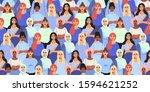 vector illustration of diverse...   Shutterstock .eps vector #1594621252