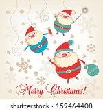 jolly santa claus | Shutterstock .eps vector #159464408