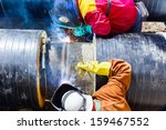 welders with protective... | Shutterstock . vector #159467552