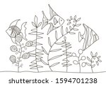 hand drawing coloring pages for ...   Shutterstock .eps vector #1594701238