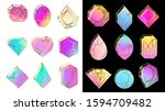 gems with gradients. jewelry... | Shutterstock . vector #1594709482