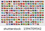 world national waving flags.... | Shutterstock . vector #1594709542